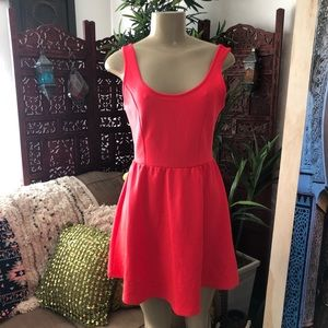 Forever 21 scuba neon pink dress size S